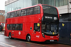 Abellio London 2498 on Route 109, Croydon Park Street (15796556824).jpg