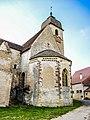 Abside de l'église du prieuré, vue de l'extérieur.jpg