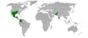 Acaciella angustissima - Image: Acacia angustissima range map