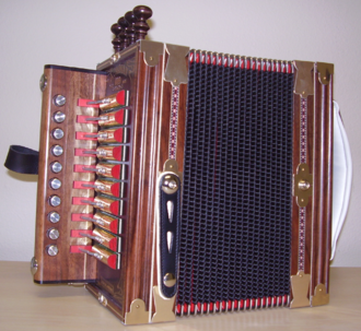 Cajun accordion - Image: Accordion Front