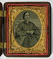 Adaline Kingrey, 1864. One of a pair of cased 9th-plate tintypes (8486618731).jpg