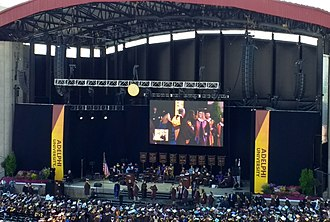 Adelphi University - The 2017 Adelphi University Graduation, held at the Jones Beach Theater.