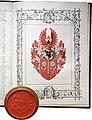 Adelsdiplom - Sersawy 1911 - Wappen.jpg