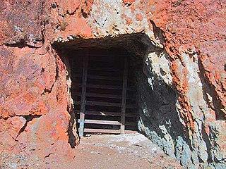 Adit horizontal entrance shaft to an underground mine