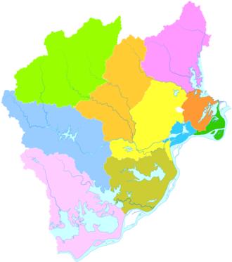 Anqing - Image: Administrative Division Anqing