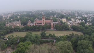 University of Allahabad - Aerial view of Senate Hall, University of Allahabad