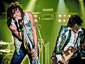 Train Kept A-Rollin' - Steve Tyler and Joe Perry at 2010 Aerosmith concert.