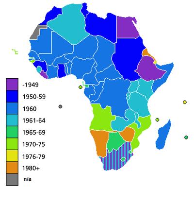 Dates d indépendance des pays africains