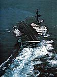Aft view of USS Coral Sea (CVA-43) underway c1970.jpg