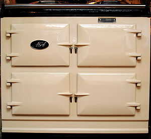 AGA cooker - Photograph of a modern-day 3-oven AGA cooker