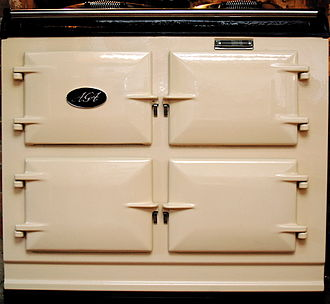 AGA cooker - A modern-day three-oven AGA cooker