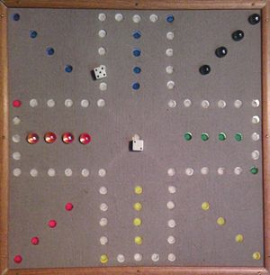Aggravation (board game) - Home made Aggravation board
