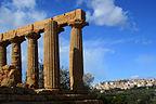Agrigento, Sycylia, Włochy - Widok z pensjonatu -