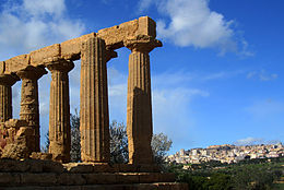 Panorama di Agrigento dalla Valle dei Templi