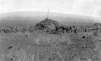 Ahu A Umi Heiau - A portion of the site, circa 1890