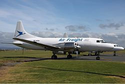 Convair CV-580 der Air Freight NZ