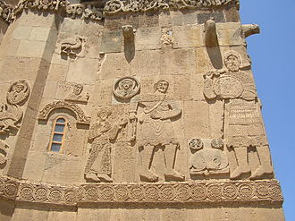 Cathedral of the Holy Cross, Aghtamar - A detail of David and Goliath from the cathedral.