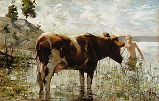 Cow and Boy
