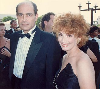 Joanna Frank - Frank with Alan Rachins, 1988