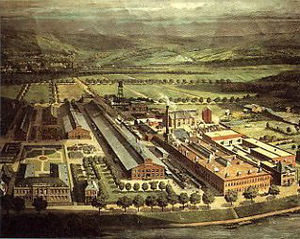 Rensselaer, New York - Hudson River Aniline and Color Works in the early 20th century