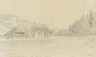 Trubschachen - Sketch of Trubschachen in 1898