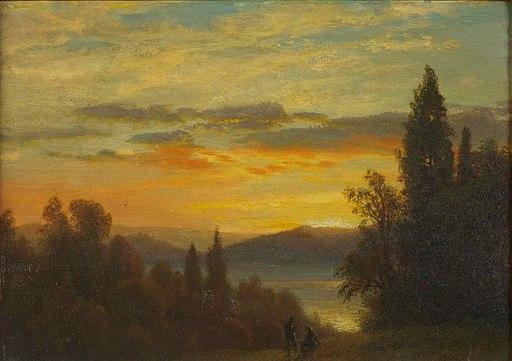 Albert Bierstadt - On the Hudson River Near Irvington - Google Art Project