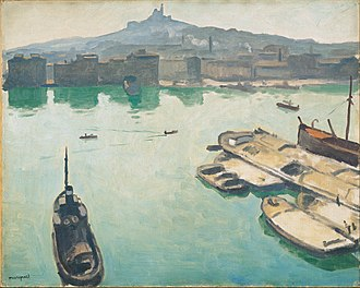 Albert Marquet - Albert Marquet, 1916, Port of Marseilles, oil on canvas, 65 x 81 cm, Ohara Museum of Art