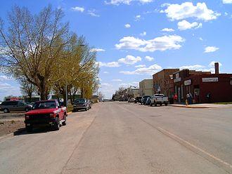 Carstairs, Alberta - Main street in Carstairs