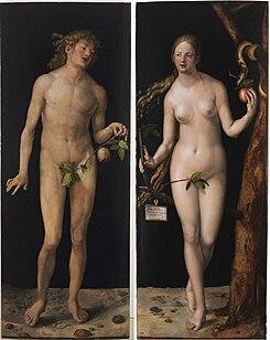 Albrecht Dürer - Adam and Eve (Prado) 2.jpg
