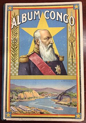 Matadi - Port of Matadi, on the cover of trading cards from the Congo