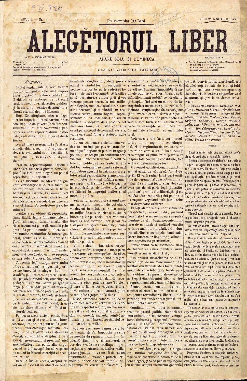 Alegătorul liber 1875-01-23, nr. 001.pdf