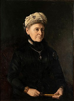 Alette Wilhelmine Georgine Sibbern Due, 1885, by Peter Nicolai Arbo.jpg