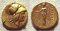 Coin of Alexander the Great, with a depiction ...