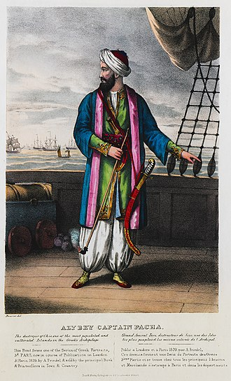 Nasuhzade Ali Pasha - Image: Ali Bey Captain Pacha The destroyer of Chio, one of the most populated and cultivated Islands in the Greek's Archipelago Friedel Adam De 1830