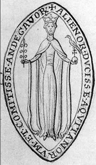 Flower and Hawk - Seal of Eleanor of Aquitaine with flower and hawk