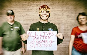 All Lives Matter - Supporter of Martha McSally with an All Lives Matter sign