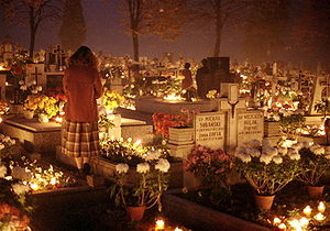 English: All Saints Day, 1st November 1984 in ...