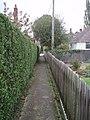 Alleyway running parallel to railway line. - geograph.org.uk - 583669.jpg