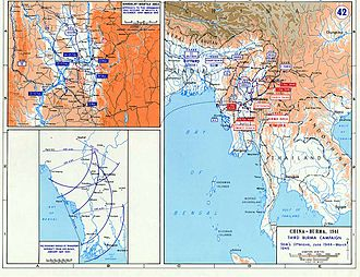 Battle of Meiktila and Mandalay - Series of maps showing the progress of the battles and their relation to the South East Asian theatre of war
