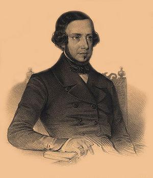 Almeida Garrett - A lithograph of Garrett, by Pedro Augusto Guglielmi