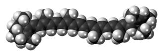 Alpha-Carotene - Image: Alpha Carotene 3D spacefill