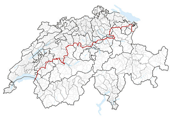 The boundaries of Alps