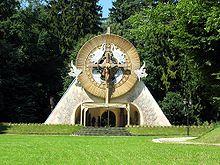 Altare edificato in Polonia in occasione della visita di papa Giovanni Paolo II