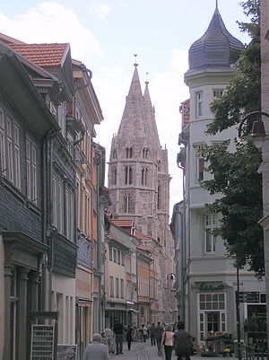 Mühlhausen - Divi-Blasii Church seen from Kornmarkt