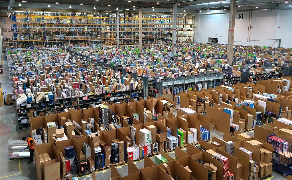 Amazon's Distributor Centre in Spain