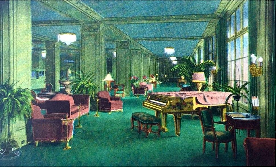 Ambassador Hotel lobby circa 1920s 1930s