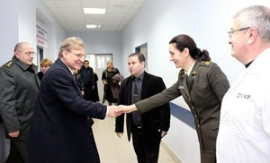 Gori Military Hospital - The U.S. diplomats visiting the Gori Military Hospital in 2013.