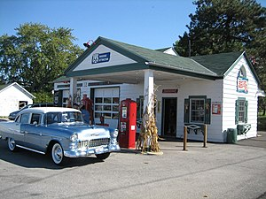 National Register of Historic Places listings in Livingston County, Illinois - Image: Ambler's Texaco Gas Station 4