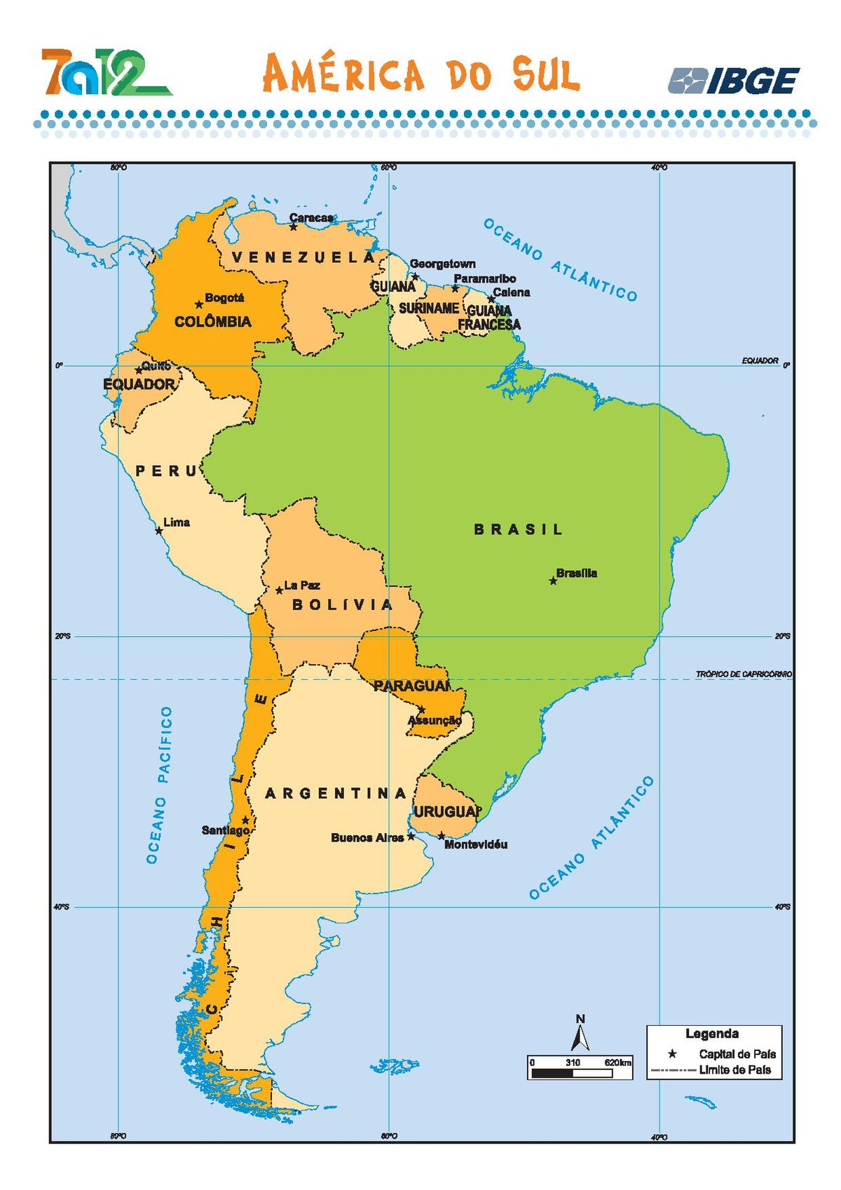 File America Do Sul Mapa Politico Mapa Escolar Ibge Brasil Pdf