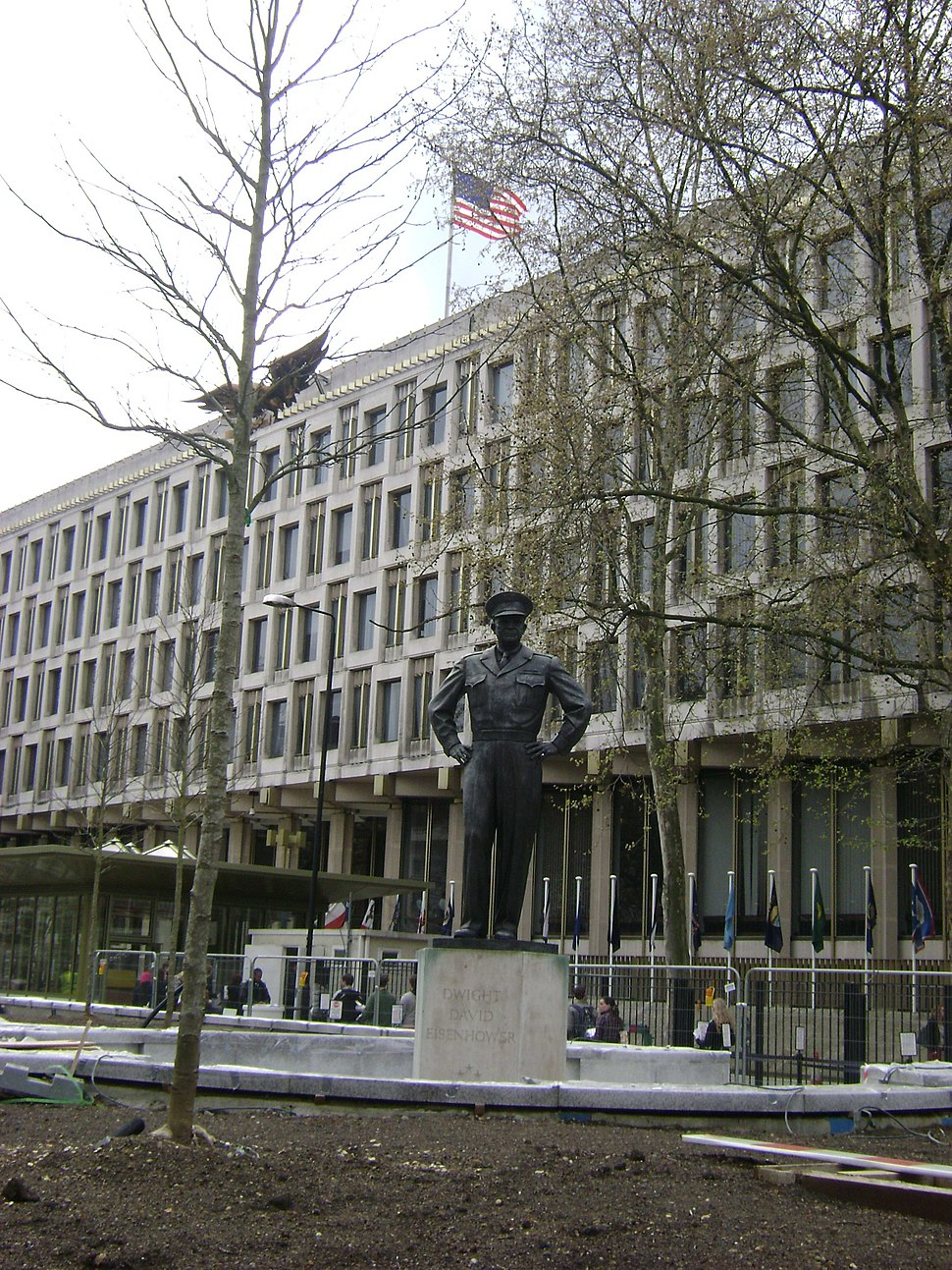 American Embassy, statue of Dwight D. Eisenhower